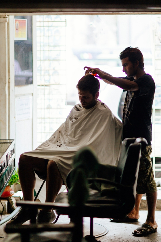 A Barbershop in Myanmar 1